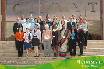 ACIPA members Charles Lawson and Jay Sanderson at CGIAR's ClipNet IP Managers' meeting held in Mexico from 1-4 July 2014